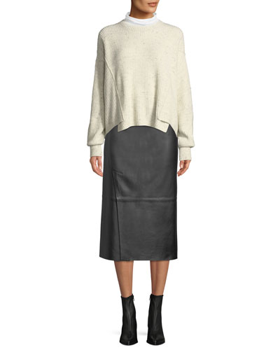 Long-Sleeve Turtleneck Sweater and Matching Items