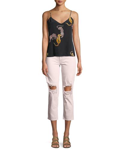 Jane Tiger-Print Silk Cami Top and Matching Items