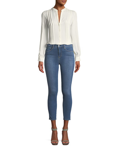 Amalea Pintuck Silk Button-Front Blouse and Matching Items
