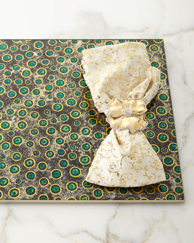 Floral Textured Napkin, Gold and Matching Items