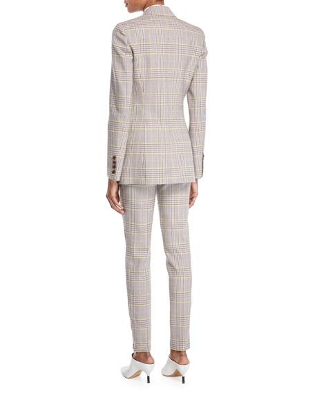 Sophie Single-Breasted Plaid Wool Sportswear Blazer
