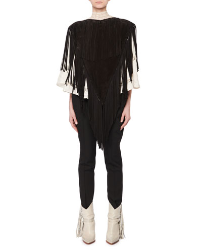 Daniela Suede Fringe Poncho and Matching Items