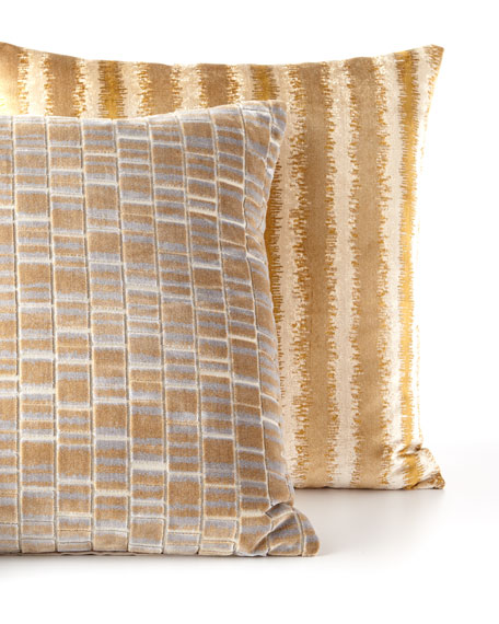Artemis Brass Knife-Edge Pillow