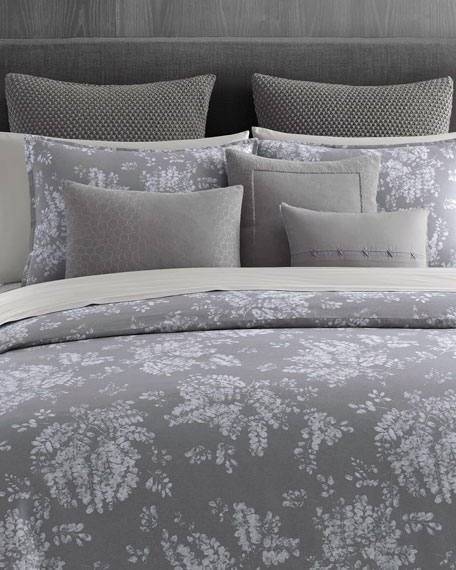 Transparent Leaves Queen Duvet Set