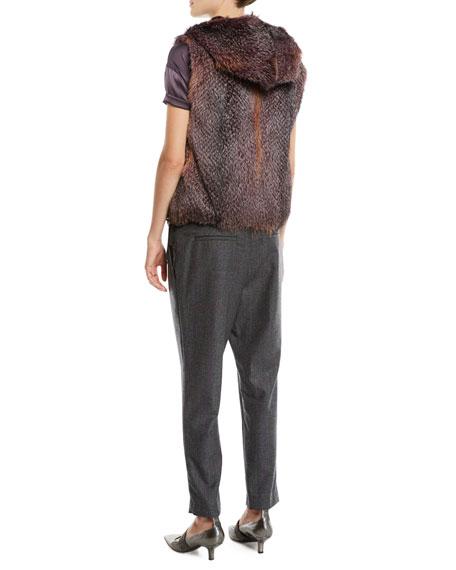 Reversible Fox & Mink Fur Vest