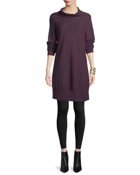 Tencel/Silk Turtleneck Tunic Sweater, Plus Size