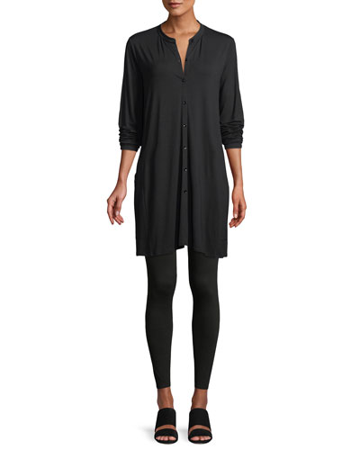 Viscose Jersey Button-Front Tunic  and Matching Items