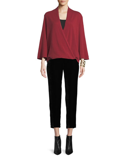 Cashmere Faux-Wrap Top  and Matching Items