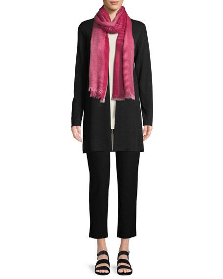 Ultrafine Merino Straight Long Cardigan, Plus Size