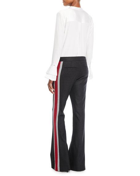 Safiya Silk Button-Front Blouse