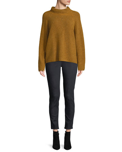 Tweedy Funnel-Neck Sweater, Petite and Matching Items