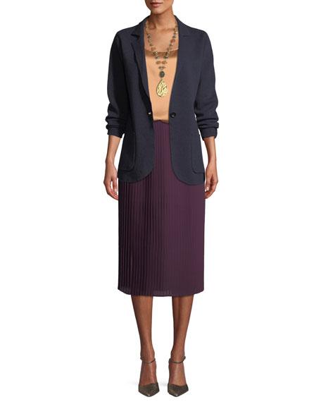 Washable Wool Crepe Blazer Jacket