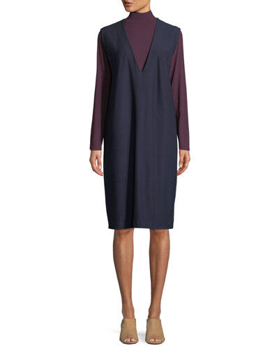 Mock-Neck Viscose Jersey Top  and Matching Items