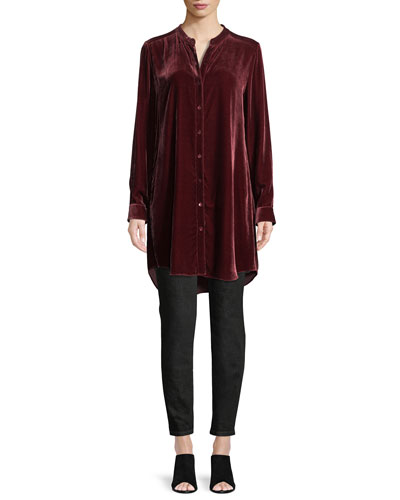 Long Washable Velvet Tunic Top, Petite and Matching Items