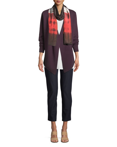 Angle-Front Silky Tencel Cardigan, Petite and Matching Items