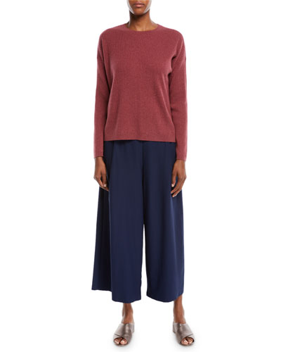 Ribbed Long-Sleeve Cashmere Sweater  and Matching Items
