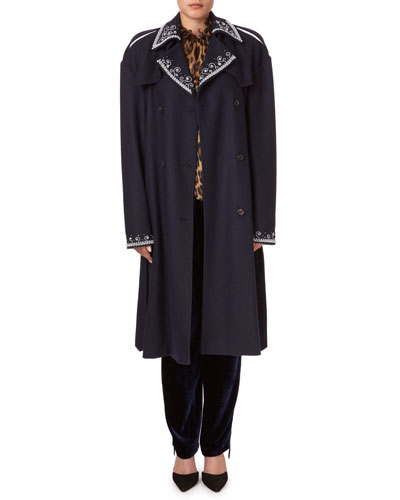 Amur Beaded Large-Shoulder Trench Coat and Matching Items