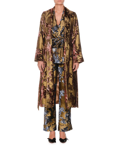 Velvet Ramage Metallic Devoré Robe  and Matching Items