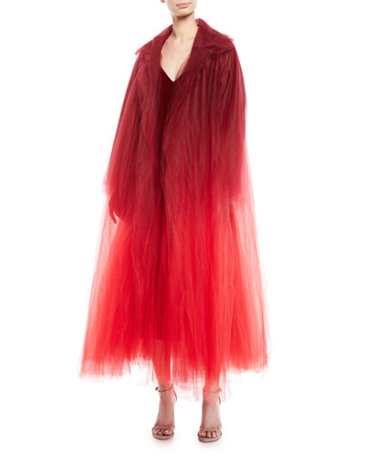 Dip-Dye Tulle Coat  and Matching Items