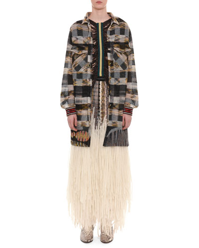 Draped Fringe Gilet Top and Matching Items