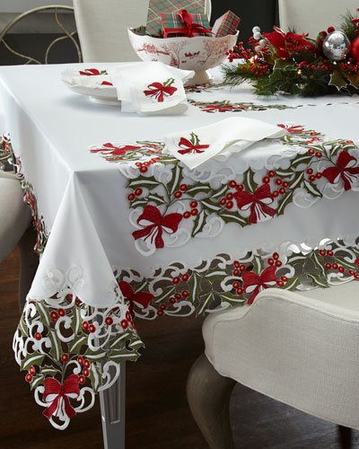 Holly Napkins, Set of 4  and Matching Items