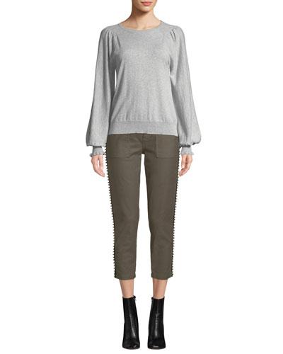 Edenka Blouson-Sleeve Sweater and Matching Items