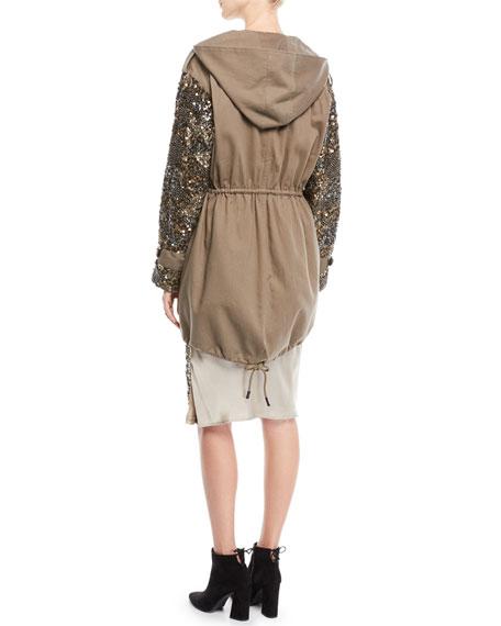 Tadita Embellished-Sleeve Coat