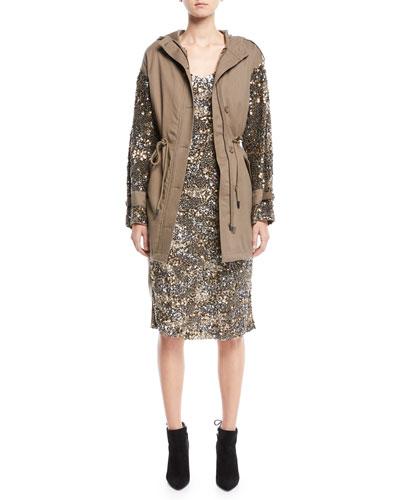 Tadita Embellished-Sleeve Coat and Matching Items