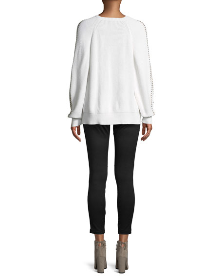 Daxton Studded Crewneck Sweater