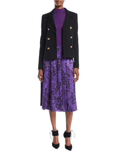 Double-Breasted Short Jersey Blazer  and Matching Items