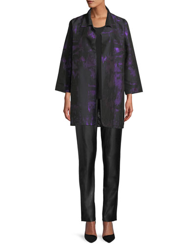 Moon Shadow Jacquard Open Shirt Jacket  and Matching Items