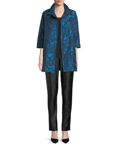 Blue Becomes You Floral Jacquard Party Jacket, Plus Size and Matching Items