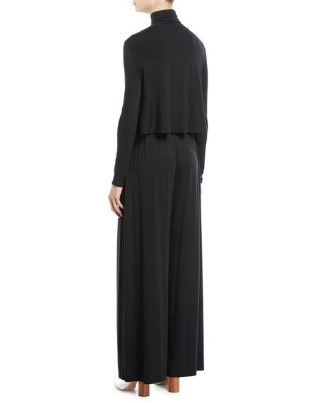 Elodie Turtleneck Jersey Top, Plus Size