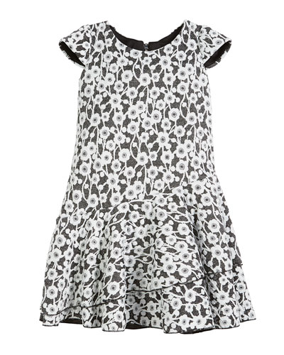 Gaby Textured Knit Floral Cap-Sleeve Dress, Size 4-6X and Matching Items