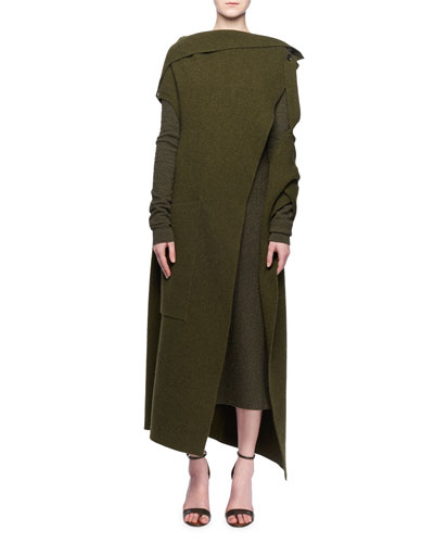 Sleeveless Multilayer Wrap Cashmere-Blend Cocoon  and Matching Items