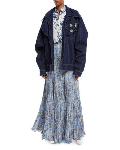 Its All Good Double-Collar Oversized Denim Jacket  and Matching Items