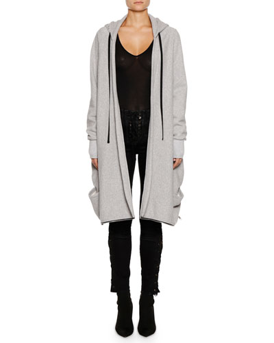 Heathered Terry High-Low Hooded Jacket and Matching Items
