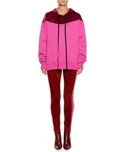 Hooded Colorblock Pullover Sweater and Matching Items