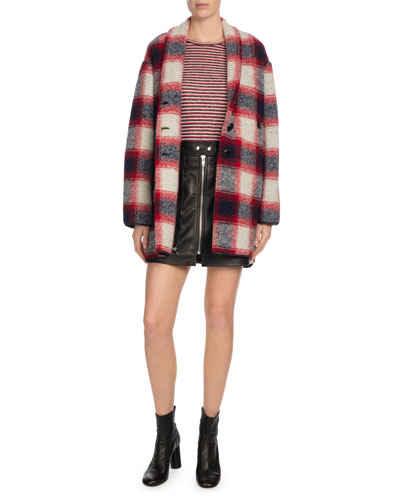 Gabrie Plaid Wool-Blend Coat and Matching Items