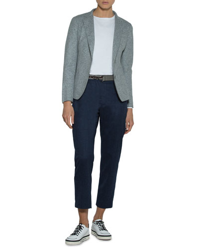 Relaxed Stretch-Wool Blazer Jacket and Matching Items