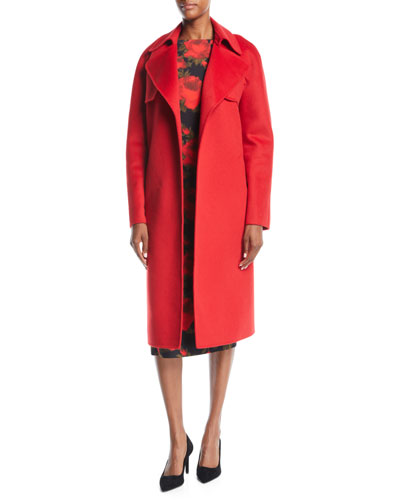 Double-Face Cashmere Melton Trench Robe Coat  and Matching Items