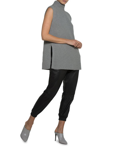 Stand-Collar Sleeveless Pullover  and Matching Items