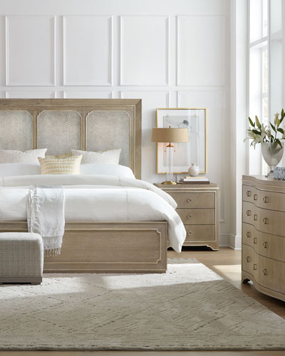 Eleri Modern King Panel Bed  and Matching Items