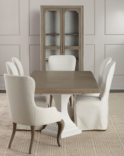 Eleri Antiqued Mirrored Dining Console  and Matching Items