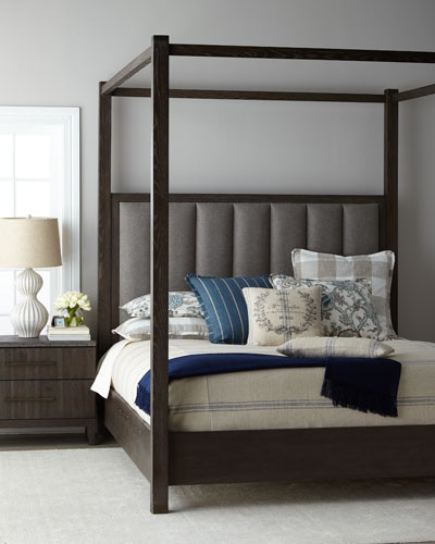 Liesel Tufted King Canopy Bed  and Matching Items