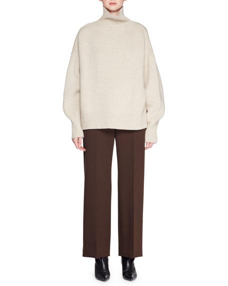 Pheliana Turtleneck Melange Knit Cashmere Pullover Sweater