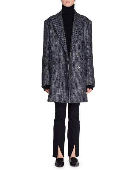 Mewey Wrap Fleece Wool-Blend Coat