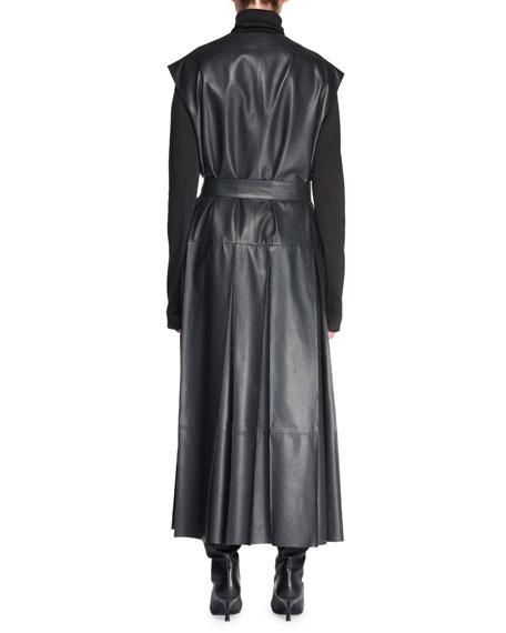 Maliph Turtleneck Long-Sleeve Silk Top