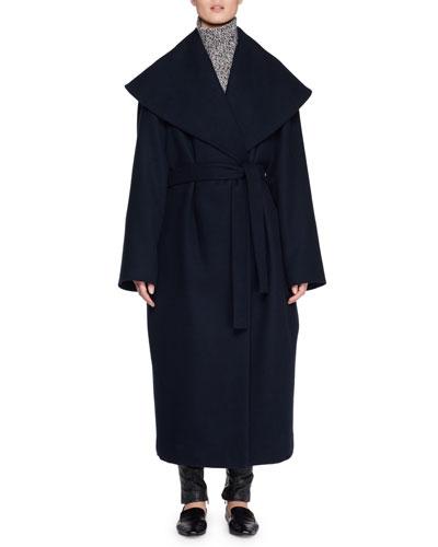 Utan Self-Tie Wool-Blend Coat  and Matching Items
