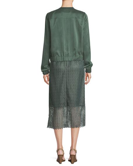 Aviana Artistry Silk Bomber Jacket